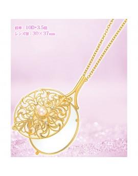 【富樂小舖】雅致珍珠項鍊放大鏡(金色) EG-3  放大3.5倍