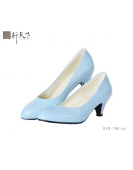 【富樂小舖】德行天下 健康淑女鞋-水藍色DYS-1301-ab