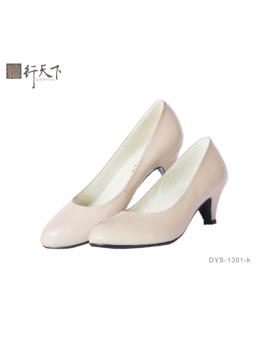 【富樂小舖】德行天下 健康淑女鞋-卡其色DYS-1301-k
