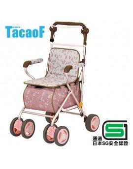 【富樂小舖】Tacaof 幸和雅緻仕女購物散步車SIST01(粉紅)